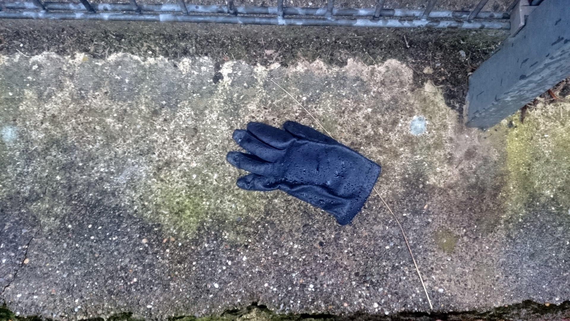 der verlorene Handschuh ist ein Symbol für die kalte Hand des Autors